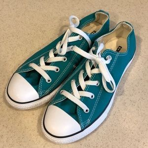 Converse Classic Blue Green Canvas Shoes Unisex 3